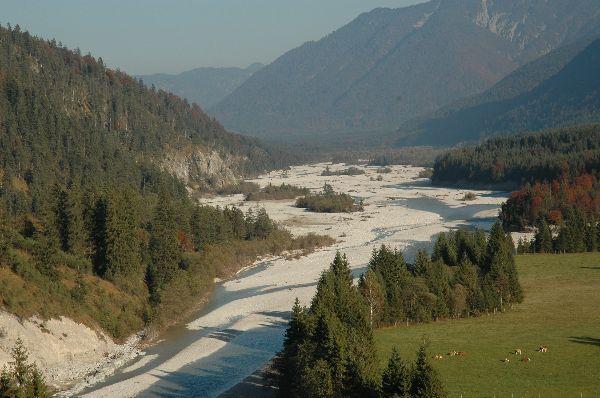 Isar Richtung Sylvensteinspeicher vom Weg zum Risssattel