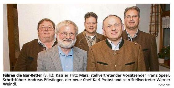 """Führung des Vereins """"Rettet die Isar jetzt !"""""""