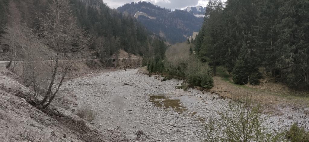 Dürrachableitung - Dürrach unterhalb des Stauswehrs
