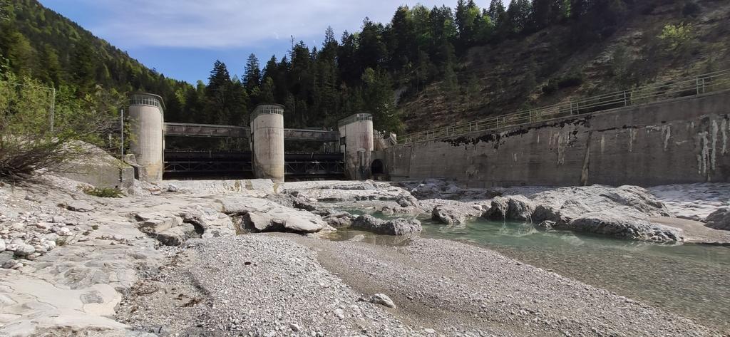 Rissbachableitung - Rissbach unterhalb des Stauwehrs