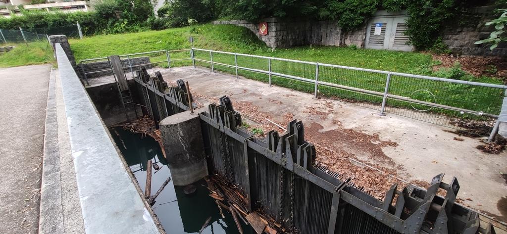 Einlaufbauwerk Walchenseekraftwerk (künstliche Entwässerung des Walchensees)